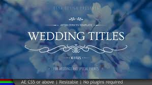 Wedding Title Template Wedding Titles Free After Effects Templates Free After