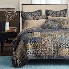 $155 AmazonSmile: Newrara Boho Bedding Collection Bohemian Real ... & $155 AmazonSmile: Newrara Boho Bedding Collection Bohemian Real Patchwork  Cotton Dark Elegance Floral Quilt/ Adamdwight.com