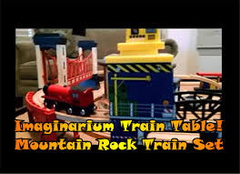 Train Set Table With Drawers Imaginarium Train Table Mountain Rock Train Set Wooden Trains
