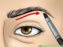image led apply egyptian eye makeup step 1