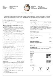 Chef Cv Template Resume Examples By Real People Sous Chef Resume Example
