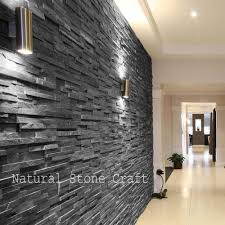 stone black slate wall cladding tiles