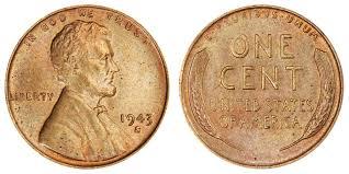 1943 S Lincoln Wheat Cent Small Cents Bronze Copper Steel