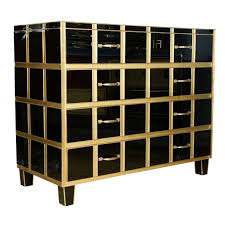 black and gold furniture. 1stdibs commode all in mirror black and gold with four drawers furniture