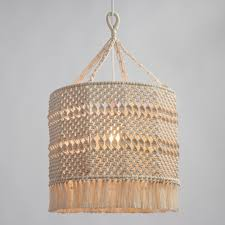 pendant lighting fixture. natural macrame deja drum pendant shade lighting fixture