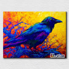 blue bird oil painting modern decoration wall hangings canvas animal wall paintings for business partner gift