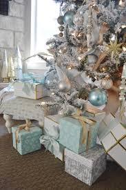 Aqua blue, silver and white Christmas. | Christmas Trees ...
