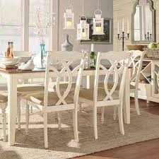 Shayne Country Antique White Beige Dining Chairs by iNSPIRE Q Classic (Set  of 2) by iNSPIRE Q