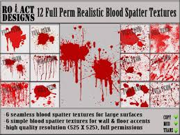 Blood Spatter Patterns Enchanting Second Life Marketplace ROACTDESIGNS 48 Blood Spatter