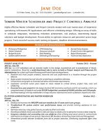 project scheduler resumes master scheduler resume example project controls analyst