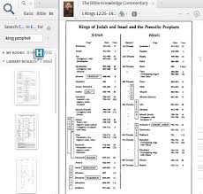 Chart Of Kings Of Israel And Judah With Prophets Logostalk Page 223 Of 473 The Logos Bible Software Blog