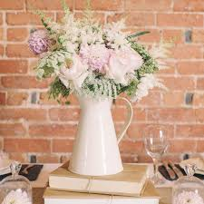 Decorative Jugs And Vases Cream Metal Jugs Wedding Table Decorations Wedding Pinterest