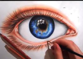 Drawingcolor Drawing An Eye Using Colored Pencils Youtube