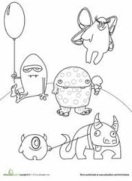 Small Picture Monster Coloring Pages Classroom Monsters Pinterest