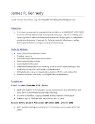 Filling Out Resume Extraordinary James R Kennedy Resume