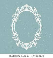 mirror frame. Delighful Mirror Vintage Oval Mirror Frame  Vector Illustration Throughout Mirror Frame