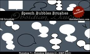 Photoshop Speech Bubble Free Speech Bubbles Photoshop Brushes From Obsidian Dawn