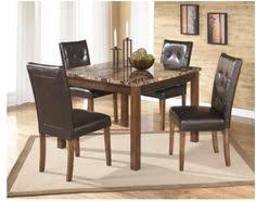 theo contemporary brown wood pvc marble square table and 4 side chairs with great the cly home furniture has the best selection of to choose