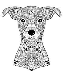 Small Picture 66 best Artistic Dog Coloring pages images on Pinterest Adult