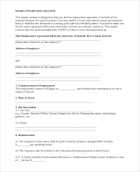 Collection of most popular forms in a given sphere. Free 21 Standard Employment Agreement Samples In Pdf Ms Word Google Docs Pages