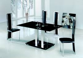 Black Glass Table And Chairs For Sale