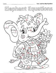 original 913198 4 elephant equations project by spencer squared teachers pay on one and two step equations worksheet