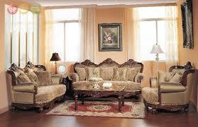 Exposed Wood Luxury Traditional Sofa & LoveSeat Formal Living Room