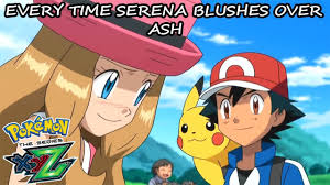 Entity Mays - Every Time Serena Blushes Over Ash In Pokemon XY&Z!  (Amourshipping)