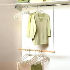 hanging closet rod s on drywall from sloped ceiling double hang shelf height bracket extension closet hanging rod