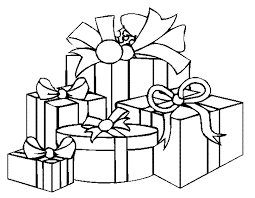 blank christmas coloring page. Beautiful Page Coloring Pages Of Christmas Presents  Printable To Blank Page G