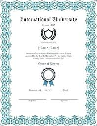 Fake Diploma Template Free School Diploma Template