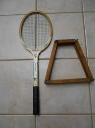 vintage wilson billie jean king valiant wooden tennis racquet wood guard htf