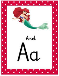 Disney Themed Alphabet Chart Natalia Script