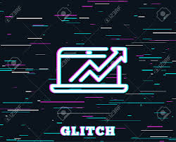 Glitch Effect Data Analysis And Statistics Line Icon Report