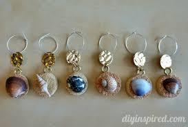 that will be easy to do with these cork and seashell wine charms from diy inspired