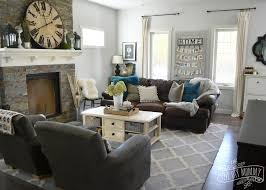 gray and teal on wonderful gray and brown living room ideas go