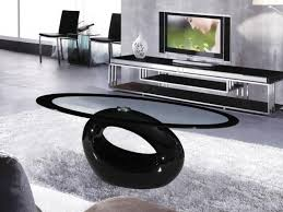 shining ideas black and glass coffee table cairo oval high gloss clear homegenies tables metal
