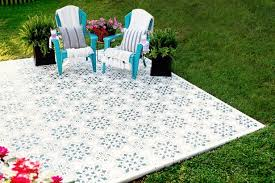 how to stain stencil a concrete patio