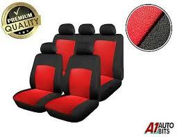 ii touran full seat covers set red