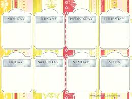 Printable Calendar With Pretty Colorful Vector Image Cute Printables