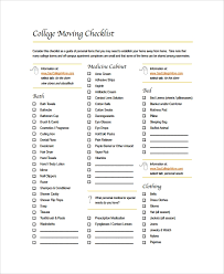 Sample Moving Checklist 8 Documents In Word Pdf