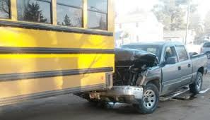 Pick-up truck rear ends school bus; five injured | Top Stories ...