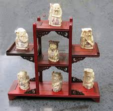 Netsuke Display Stand 100 Bone Netsuke On A Wooden Display Stand China Late 100th 35