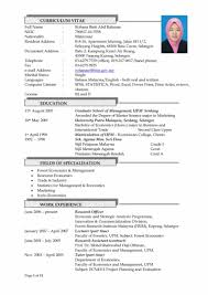 Resume Sample Pdf Malaysia Example Of Resume Format In Malaysia