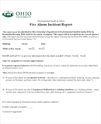 12 Sample Fire Incident Reports Pdf Word