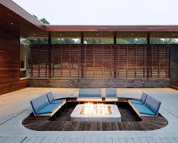 Modern Outdoor Fire Pit  Modern  DeckpatioModern Fire Pit