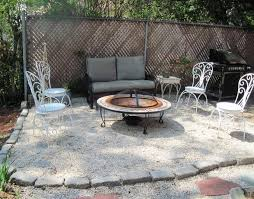 captivating pea gravel fire pit for your outdoor decor ideas patio ideas gravel patio