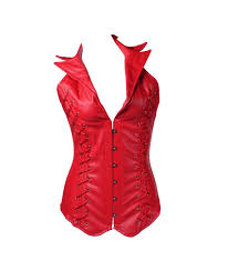 queenral leather corset gothic clothing women steampunk corsets and bustiers qskwsjvml