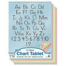 Pacon Colored Chart Tablet Ruled 24 X 32 Yw Pink Salmon Be Gn 25 Sheets 74733 45173747338 Ebay