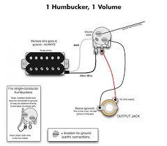 one humbucker 1 volume wiring diagram wiring diagram \u2022 wiring diagram for humbucker pickup electric guitar humbucker troubles music practice theory rh music stackexchange com seymour duncan humbucker wiring diagrams